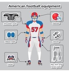 American football player equipment vector image