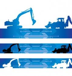 arrow construction background vector image vector image