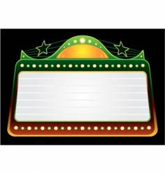 blockbuster template vector image