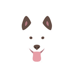 cute cartoon dog head smiling and sticking out vector image