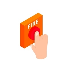 Fire alarm isometric 3d icon vector image vector image