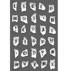 Old letters on torned paper vector image