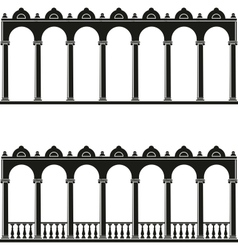 silhouettes of gallery vector image