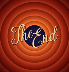 The final screen of the movie The end vector image