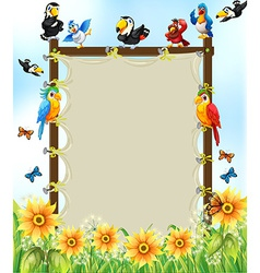 Animals and frame vector image vector image