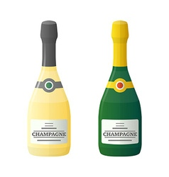 colored flat light and dark couple champagne vector image