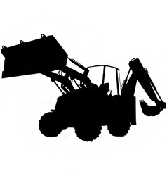 digger silhouette vector image