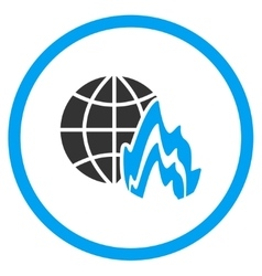 Global Fire Icon vector image vector image