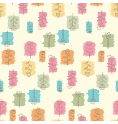 Ornate seamless pattern with the stylized flowers vector image vector image