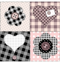 patchwork amour vector image