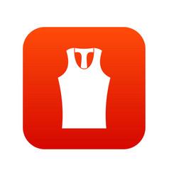 Sleeveless shirt icon digital red vector