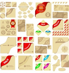 great collection of sale sign vector image vector image