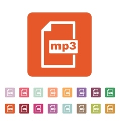 The mp3 icon File audio format symbol Flat vector image