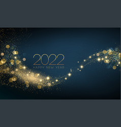 2022 new year abstract shiny color gold wave vector