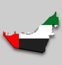 3d isometric map united arab emirates vector
