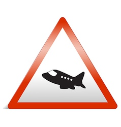 a traffic sign of airplane vector image