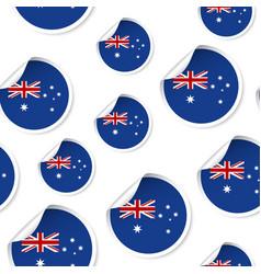 australia flag sticker seamless pattern vector image
