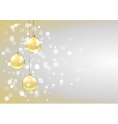 Bauble card vector image