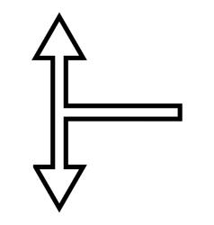Bifurcation Arrow Up Down Outline Icon vector