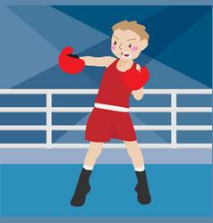 boxing athletic sport cartoon set vector image vector image