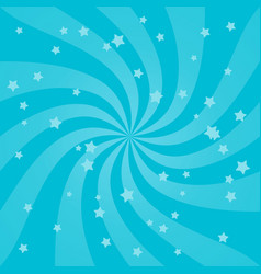 bright swirl design background with stars vector image