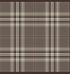 Brown glen plaid pattern vector