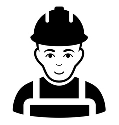 Builder Flat Icon vector