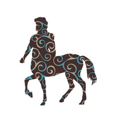 centaur pattern silhouette ancient mythology vector image