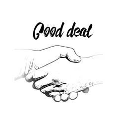 clip art business handshake vector image
