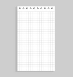 closeup of sheet of paper on vector image