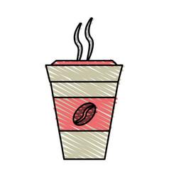 Color crayon stripe cartoon container disposable vector