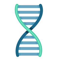Color dna icon deoxyribonucleic acid symbol vector