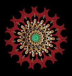 colorful ornamental greek mandala pattern vector image