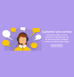 Customer care service banner horizontal concept vector