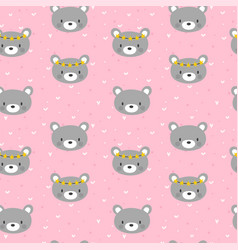 cute seamless pattern for little girls with funny vector image vector image