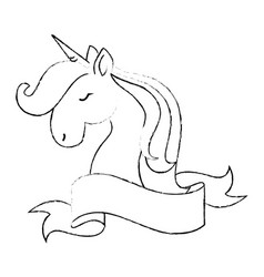 Unicorn Black And White Cute Vector Images Over 380