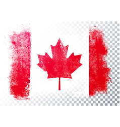 distressed grunge flag canada vector image