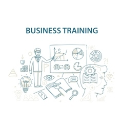 Doodle style design concept of business training vector image