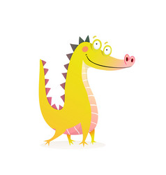 dragon crocodile or alligator funny character vector image