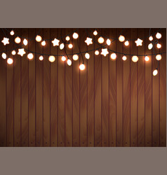 Glowing lights garland vector