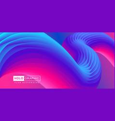 Gradient abstract 3d fluid background vector