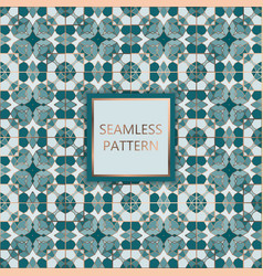 Green seamless pattern with silver inserts vector