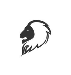 head lion logo design vector image