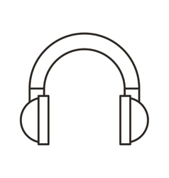 headset sound device isolated icon vector image