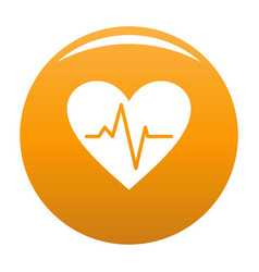 Healthy heart icon orange vector