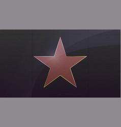 hollywood star symbol movie actor or famous vector image