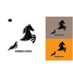 Horse logo template design mockup vector