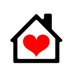 House icon with heart vector