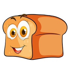 Loaf of bread with happy face vector