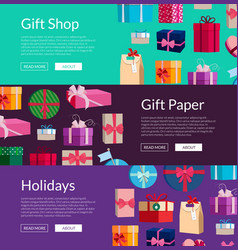 Lot of gift boxes or packages vector